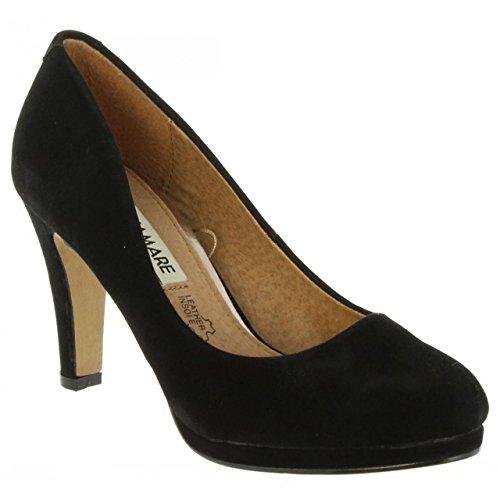 Zapatos de tacón de Mujer MARIA MARE 61029 R1 C6431 PEACH NEGRO