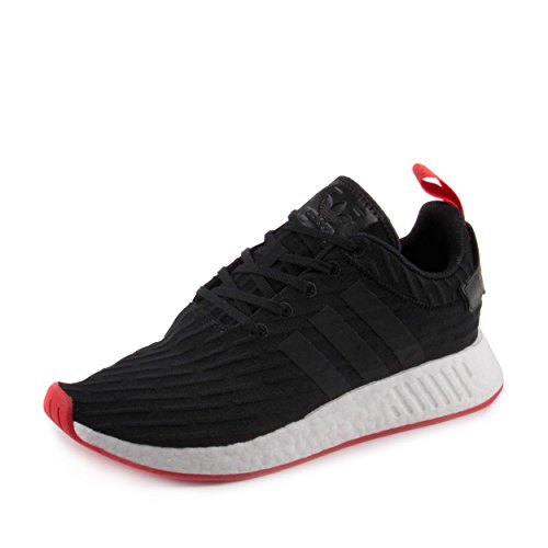 adidas Originals Men's NMD_r2 PK Sneaker (9.5 D(M) US, Core Black/Core Red)