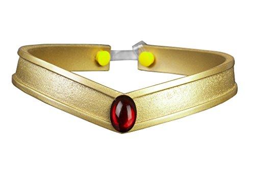(Cosfun Sailor Queen Headwear/Tiara Accessories Gold PVC Props Cosplay (Pluto Meiou Setsuna))