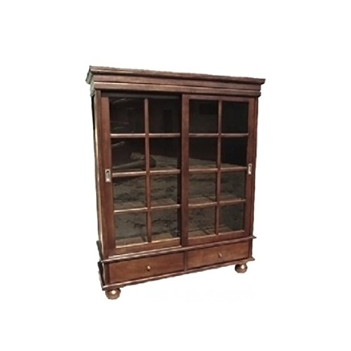 Home Accents Mahogany Sliding Door Curio Display Cabinet Furniture
