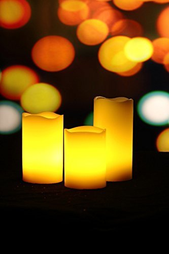Big Clearance Sale- Set of 3 Real Wax Melt Edge LED Candle S