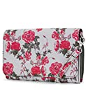 Mundi RFID Crossbody Bag For Women Anti Theft Travel Purse Handbag Wallet Vegan Leather (Rose Floral)