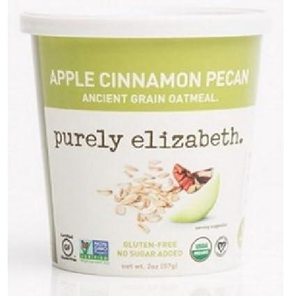 Purely Elizabeth - Pacana antigua orgánica del cinamomo de Apple de la harina de avena del