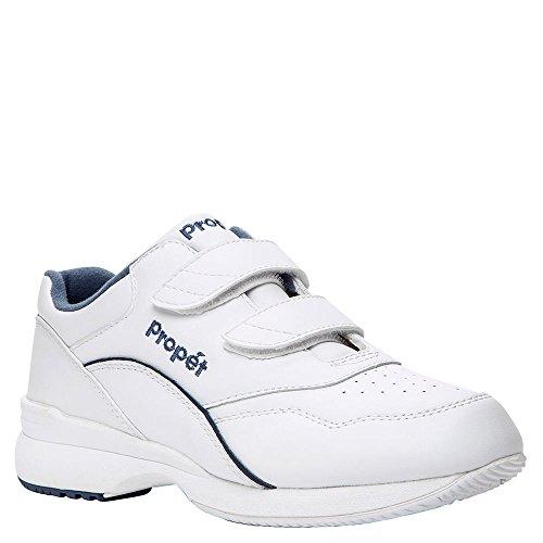 Propet Women's Tour Walker Strap II Sneaker,White/Blue, 7 XWW
