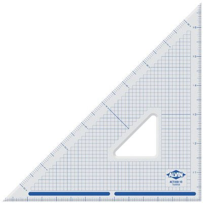 Alvin ACT450-10 Cutting Edge Triangle 45/90 (10'')