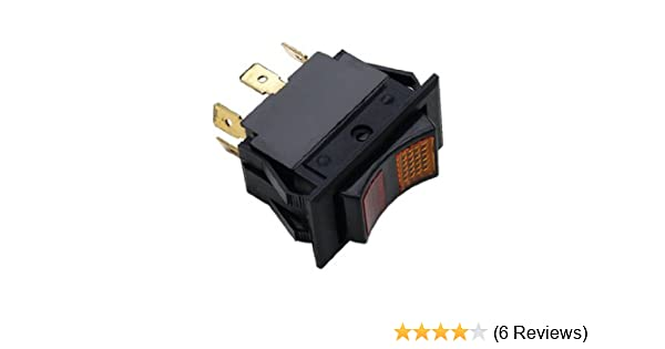 amazon com : shoreline marine rocker on/off switch : boating battery  switches : sports & outdoors