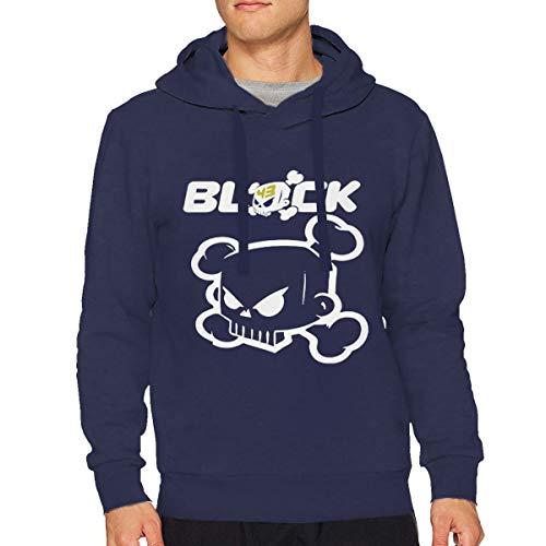 Men Unisex Ken Block Skull Logo Cotton Hooded Pullover Sweatshirts Drawstring Sweater Funny Long Sleeve Top Hoodies