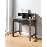 Smart Home Modern Home Office Furniture Simple Desk (Distressed Gray / Black)