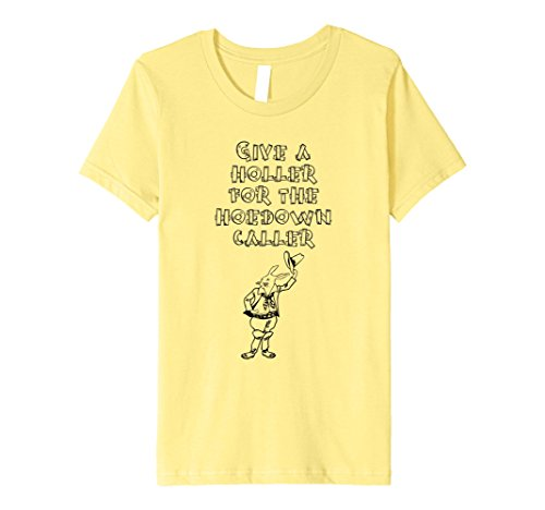 Kids Hoedown caller square dance clogging shirt slim 6 Lemon