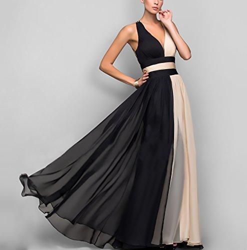 new product 01da2 fb16e Vestiti Donna Elegante Cerimonia Lunghi Da Sera Collo V ...