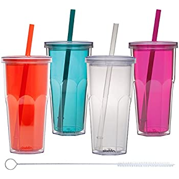 Aladdin 4 Pack Insulated Cold to Go Tumbler 20oz Includes Zippy® Straw Cleaner - Set 1