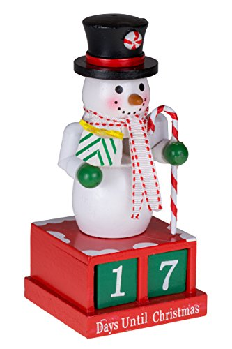 24 Plus Day Snowman Advent Calendar by Clever Creations | Countdown to Christmas | Painted Numbers | Black Top Hat with Candy Cane & Gift | 100% Wood Construction | Unique Holiday Decoration | 6