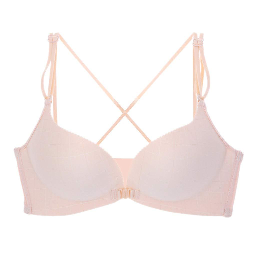 Kiminana Women Lace Bra,❤️◕‿◕❤️ Sexy Lace Bra Mesh 1/2 Cup Delicate Underwire Unlined Demi Bra Sexy Brassiere Underwear Khaki