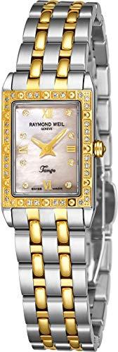 Raymond Weil Women's 5971-SPS-00995 Tango Rectangular Two-Tone 40 Diamonds ()
