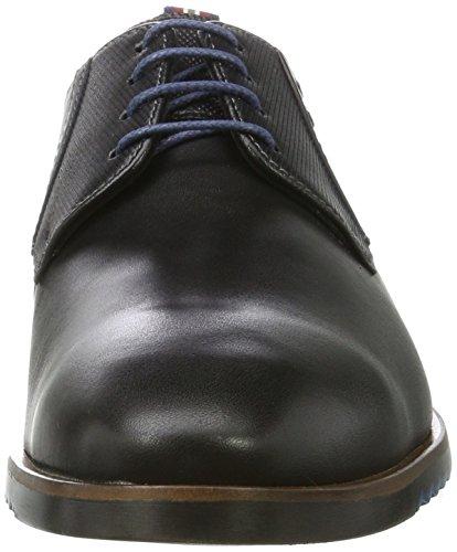 Lloyd Deno - Zapatos Derby Hombre Schwarz (Schwarz/Blue)
