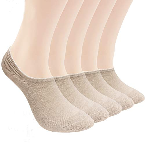 Athletic Cushion Cotton Socks- 5/10 Pack-Low Cut Liners Loafer Sneakers Sports Casual Socks (US women's shoe 5-7 (8.5