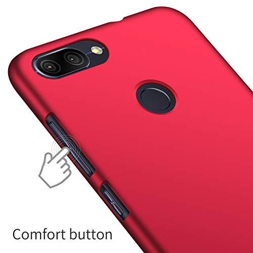 SHIWELY Ultra Thin Zenfone Max Plus ZB570TL Case, Hard Polycarbonate PC Slim Fit Silky Smooth Phone Cover Case with Matte Finish for Zenfone Max Plus ZB570TL(Red)
