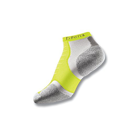 Thorlos Experia Thin Padded Running Ankle Sock  Yellow  S