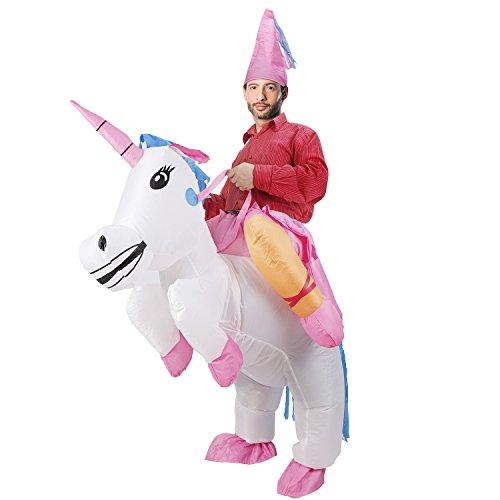 LIONVI Inflatable Unicorn Costume Halloween Cosplay Fantasy Costume (Adult Unicorn) -
