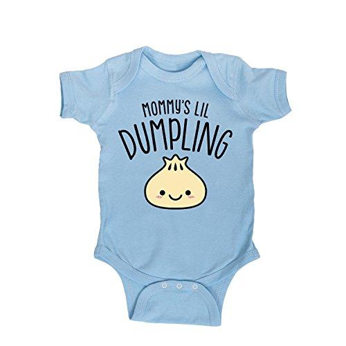 - Mommys Lil Dumpling -Infant One Piece-6M Light Blue
