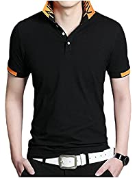 Mens Fashion Polo T Shirts,Cotton Casual Graphic T-Shirt Tops Pullover