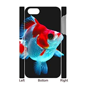 DIY Phone Case with Hard Shell Protection for Iphone 4,4S 3D case with Goldfish lxa#986902 by runtopwell