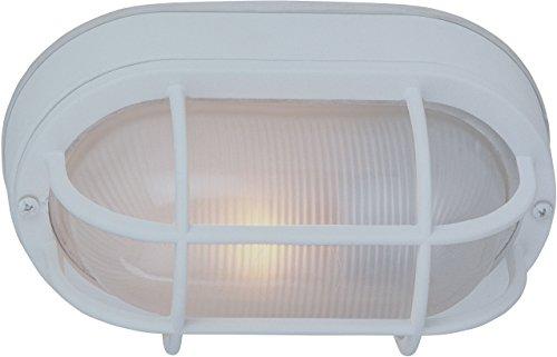 "Craftmade Z397-TW Bulkhead Outdoor Marine Flush Mount Ceiling Lighting, 1-Light, 100 Watts, Textured Matte White (7"" W x 11"" H)"