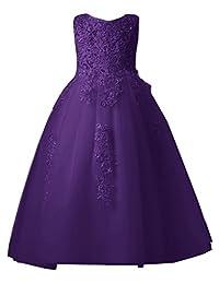 Mermaidtalee Lace Little Flower Girl Dresses Wedding Dresses Long
