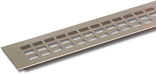 secotec rejilla de ventilación aluminio Titanio/efecto acero inoxidable 100 x 400 mm SB de 1, 1 pieza, 105031354