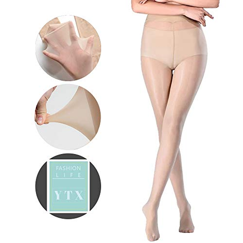 09dc829703a21 YTX New Upgraded Super Elastic Magical Tight Silk Stocking Skinny Leg  Sexy,Black,Nude