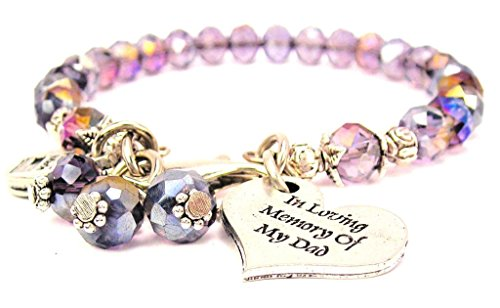 ChubbyChicoCharms Lavender Purple Crystal in Loving Memory of My Dad Bracelet