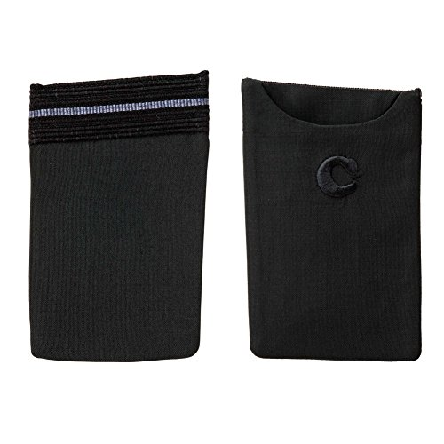 THE ESSENTIAL FOR ESSENTIAL THINGS - Card case for the jacket's top-pocket adornment (Black and Grey) by CARUSO