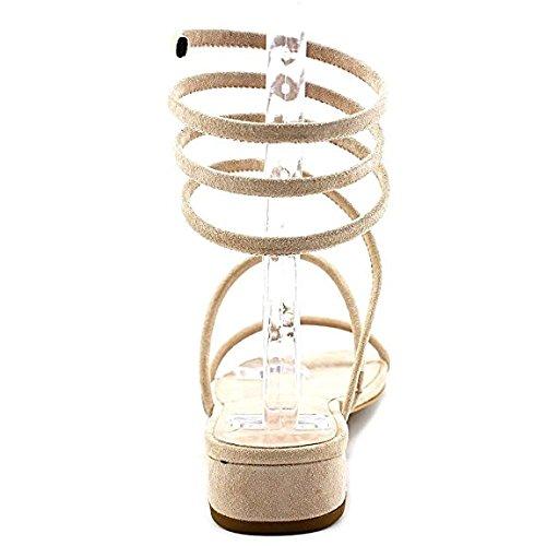 Avec Les Filles Womens Caila Open Toe Beach Ankle Strap Sandals Pink Champagne NeDQCDAIu