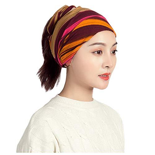 Women Ladies Cotton Versatile Bib Scarf Dual-use Print Cold Protect Headband Neckerchief (Q)