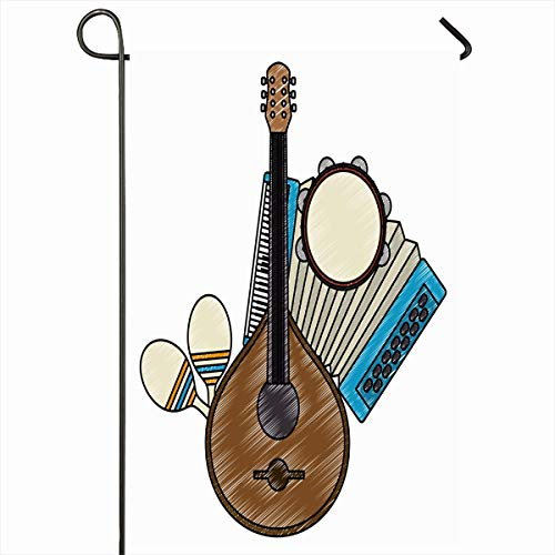 Used, Ahawoso Outdoor Garden Flag 12x18 Inches Acoustic Cultural for sale  Delivered anywhere in Canada