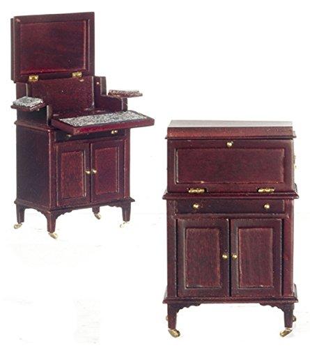 Mahogany Victorian Cabinet - Platinum Collection Dollhouse Miniature Victorian Cocktail cabinet Mahogany #P3154