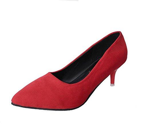 Ein bißchen spitze mode wunderschöne Arbeitschuhe Damen Frauen Pumps Rot