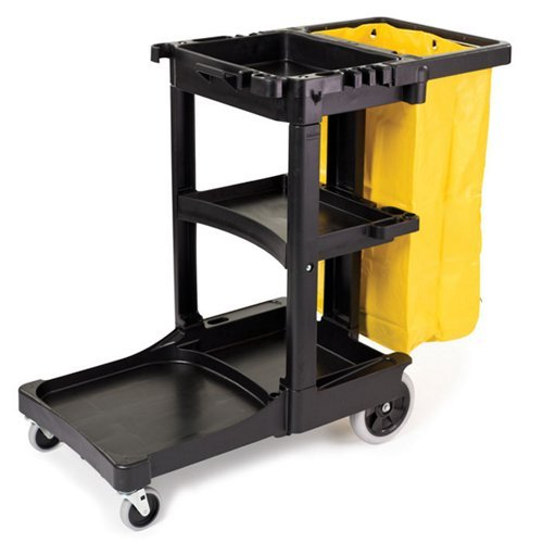 Cart, 3-Shelf, 20w x 45d x 38-1/4h, Black ()