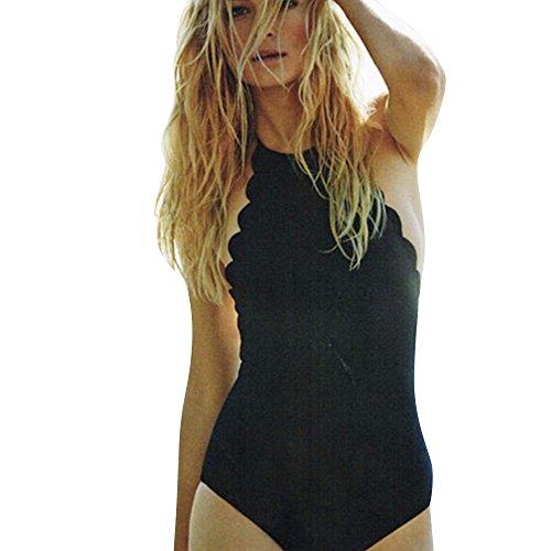 3Z regolabile donna da da Nero Archery bagno collo Costume bagno da pettinato da intero da Costume donna bagno bikini con monokini Costume alto SSrqTwxF1