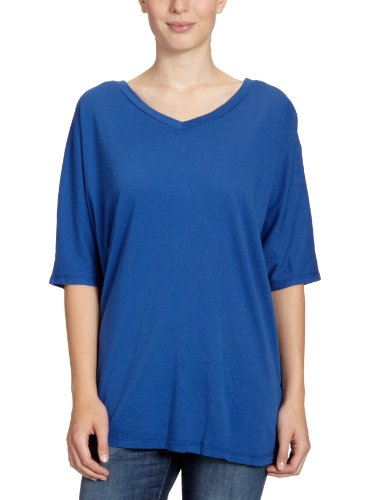 Bobi - Camiseta con cuello de pico de manga 3/4 para mujer Morado (Electric)