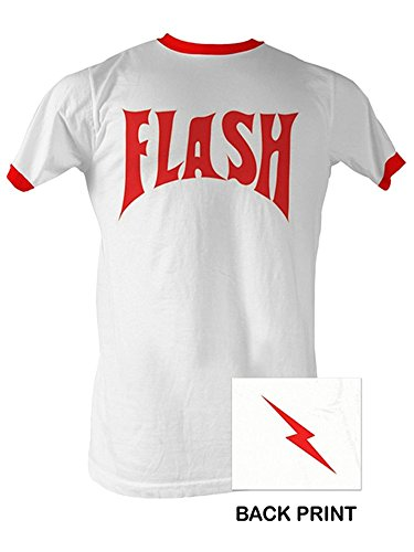 A&E Designs Flash Gordon T-Shirt - Adult Ringer Tee Shirt (Design Mens Ringer T-shirt)