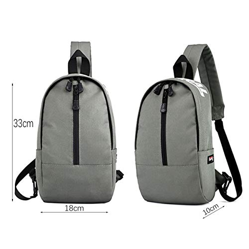 Lightweight body Grey Backpacks Bag for Shoulder Men Canvas Defeng Women Chest Daypacks Pouch Multipurpose Cross and Sport qXAAaz