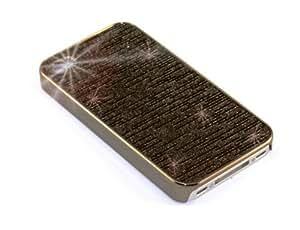 """""""Tendencia de la Ciudad"""" Negro, Cubierta rígida brillante para iPhone 4S. Estuche / Carcasa / Funda, Cubierta lustroso de plástico para iPhone 4S."""