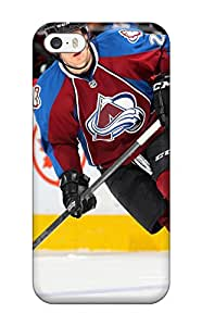Iphone 5/5s Hard Back With Bumper Silicone Gel Tpu Case Cover Colorado Avalanche (34)