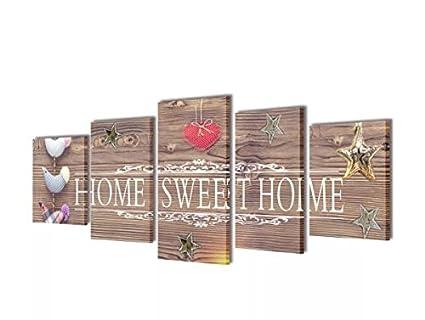 Ku0026A Company Canvas Wall Print Set Home Sweet Home Design 79u0026quot; ...