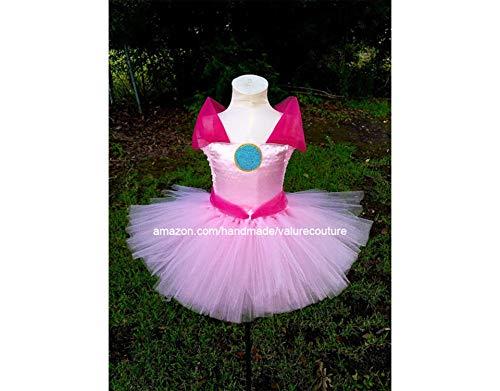 Princess Toadstool Costumes Toddler - Princess Peach Toadstool Inspired Tutu Dress