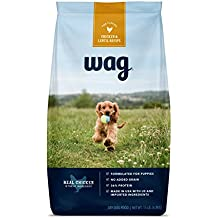 WAG Amazon Brand Dry Dog Food for Puppies, No Added Grain, Chicken & Lentil Recipe, 15 lb. Bag