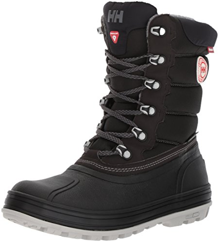 Helly Hansen Women's Tundra Cold Weather Boot Snow, Jet Black/Charcoal/ANG, 8 M US