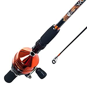 South Bend Worm Gear Fishing Rod and Spincast Reel Combo (Orange, Blue or Green) by South Bend
