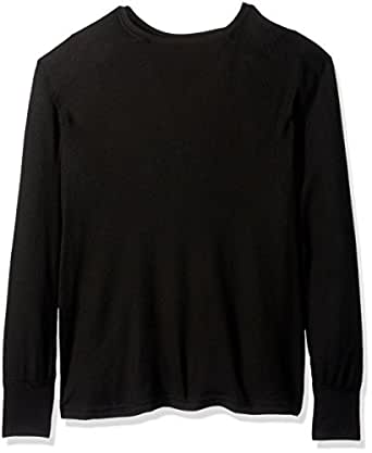 Fruit of the Loom Men's Premium Natural Touch Thermal Top, Rich Black, 2X